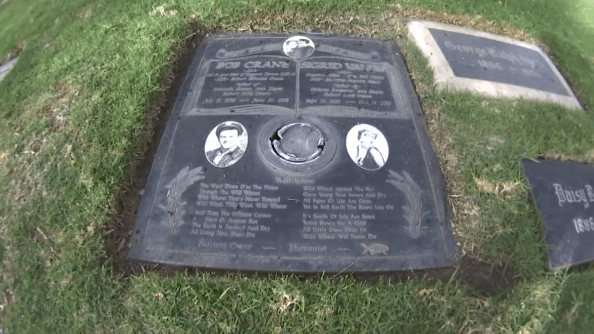 Bob Crane and his second wife's grave stone.