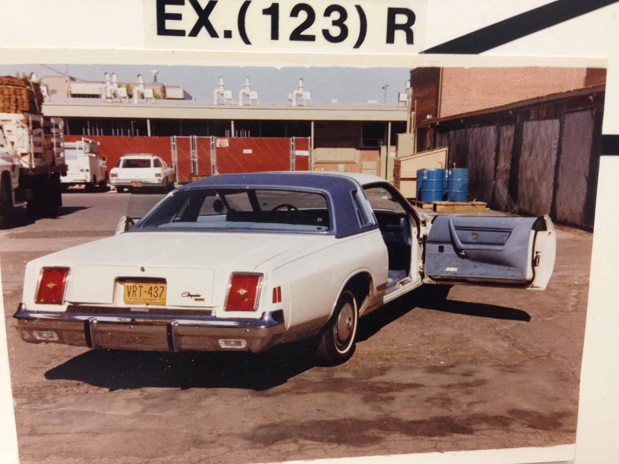 John Carpenter's rental vehicle.
