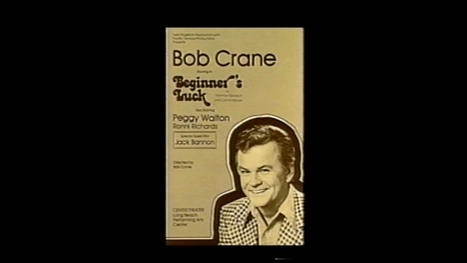 Bob Crane shown on the play pamphlet he was starring in at the time of his murder.