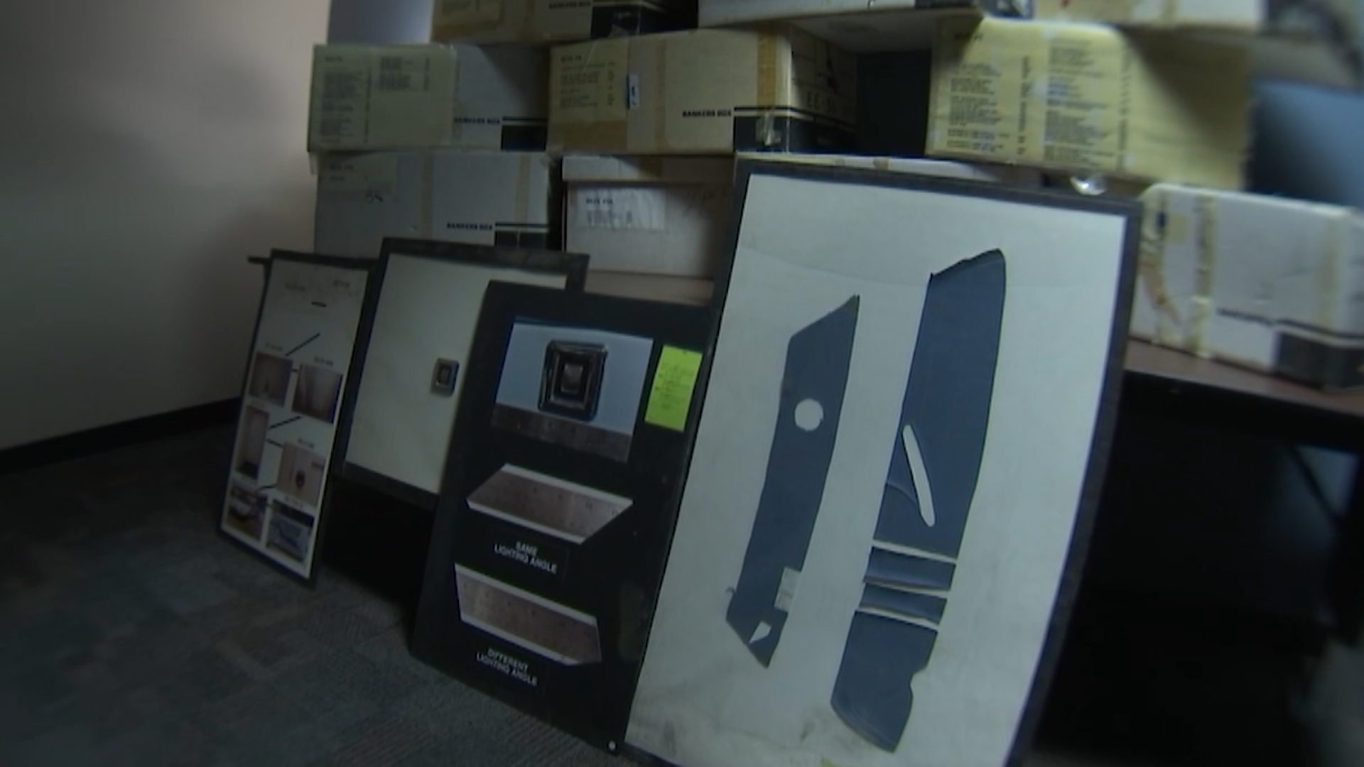 Boxes of evidence from Bob Crane's murder investigation.